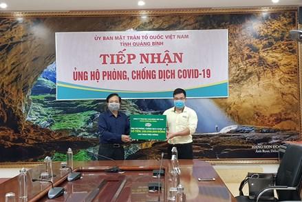 Ủy ban MTTQ tỉnh Quảng Bình tiếp nhận ủng hộ phòng, chống dịch bệnh Covid-19.