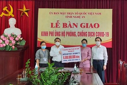 Nghệ An: Tiếp tục hỗ trợ đợt 2 cho lực lượng phòng, chống dịch