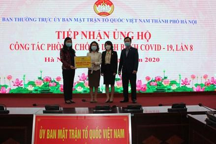 Ủy ban MTTQ TP Hà Nội: Tiếp nhận ủng hộ phòng, chống dịch Covid-19 lần thứ 8