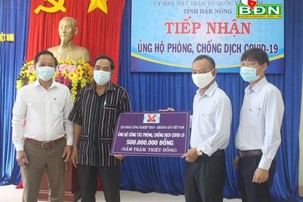 Ủy ban MTTQ Việt Nam tỉnh Đắk Nông tiếp nhận 500 triệu đồng phòng, chống dịch Covid-19