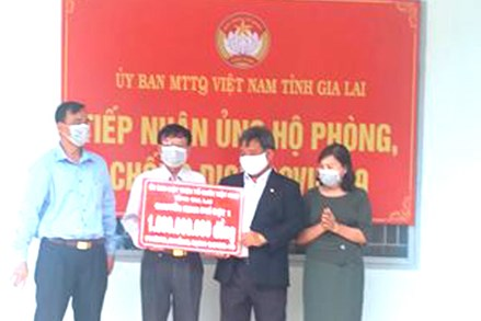 Ủy ban MTTQ Việt Nam tỉnh Gia Lai: Phân bổ đợt 1 kinh phí vận động quyên góp hỗ trợ công tác phòng, chống dịch Covid -19