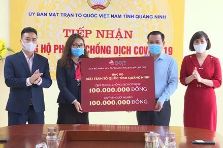 Quảng Ninh:Tiếp nhận ủng hộ phòng chống dịch Covid-19