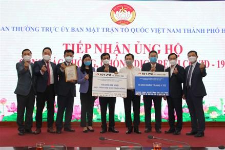 Ủy ban MTTQ Việt Nam Thành phố Hà Nội tiếp nhận ủng hộ phòng, chống dịch Covid-19 lần thứ 9 hơn 1 tỷ đồng