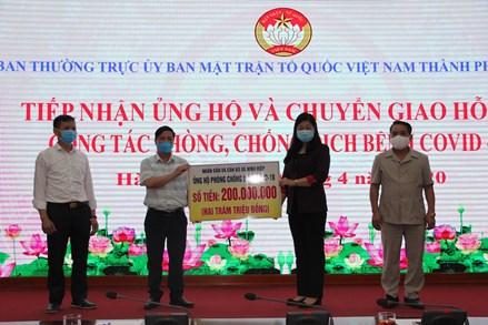 Hà Nội: Tiếp nhận ủng hộ và chuyển giao hỗ trợ phòng, chống dịch Covid-19