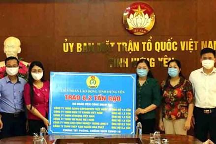 Ủy ban MTTQ tỉnh Hưng Yên tiếp nhận ủng hộ phòng, chống dịch Covid-19