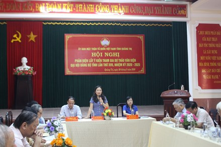Hội nghị phản biện lấy ý kiến tham gia dự thảo văn kiện Đại hội Đảng bộ tỉnh Quảng Trị