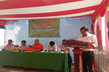 MTTQ tỉnh Trà Vinh mít tinh hưởng ứng ngày môi trường 5/6