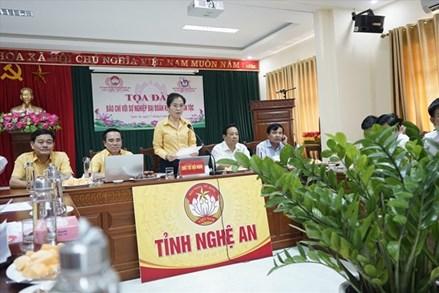 MTTQ tỉnh Nghệ An tọa đàm 'Báo chí với sự nghiệp Đại đoàn kết toàn dân tộc'
