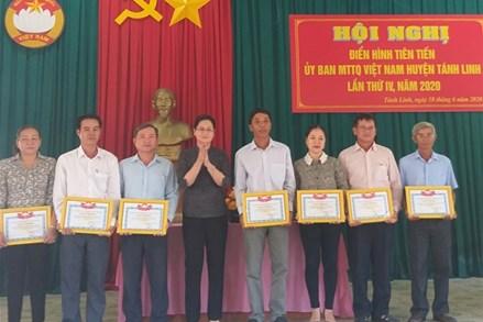 MTTQ Việt Nam huyện Tánh Linh (Bình Thuân): Tổ chức hội nghị điển hình tiên tiến lần thứ IV, năm 2020.