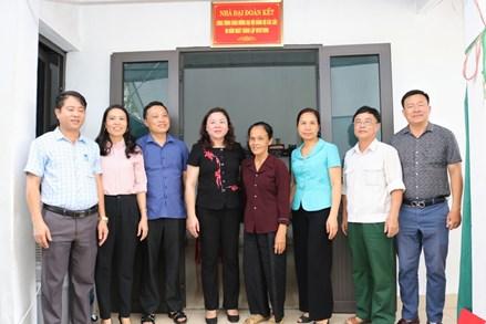 Ninh Bình: Khánh thành nhà đại đoàn kết cho hộ gia đình nghèo có hoàn cảnh khó khăn về nhà ở