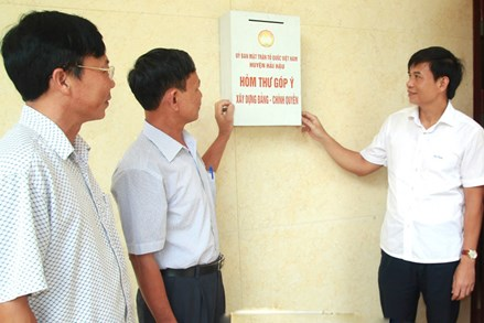 Mặt trận Tổ quốc các cấp tỉnh Nam Định tham gia xây dựng Đảng, chính quyền