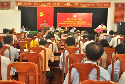 Ủy ban MTTQ Việt Nam tỉnh Quảng Bình tổ chức hội nghị lần thứ 3, nhiệm kỳ 2019-2024