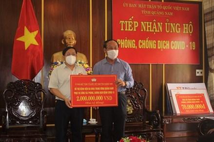 Mặt trận Quảng Nam hỗ trợ 2 tỷ đồng điều trị ca mắc Covid-19