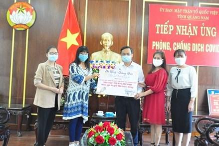 Ủy ban MTTQ Việt Nam tỉnh Quảng Nam tiếp nhận tiền và hiện vật ủng hộ phòng, chống dịch Covid-19