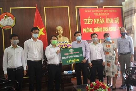 Mặt trận Quảng Nam tiếp nhận thiết bị y tế phòng, chống dịch