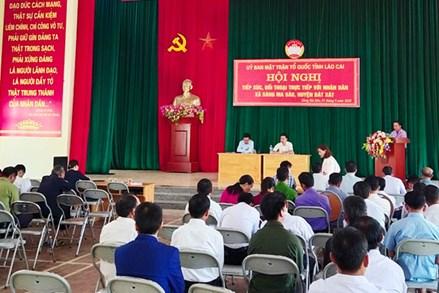 Ủy ban MTTQ Việt Nam tỉnh Lào Cai đối thoại trực tiếp với nhân dân xã Sàng Ma Sáo