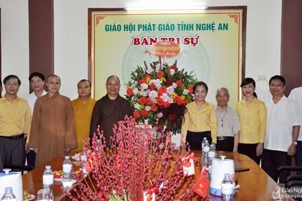 Ủy ban MTTQ tỉnh Nghệ An chúc mừng Ban Trị sự Giáo hội Phật giáo Nghệ An