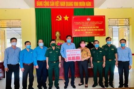 Ủy ban MTTQ TP. Hồ Chí Minh thăm hỏi, động viên lực lượng Biên phòng tỉnh Long An