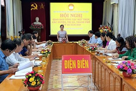 Ban Thường trực Ủy ban MTTQ tỉnh Điện Biên giao ban công tác Mặt trận quý III, năm 2020