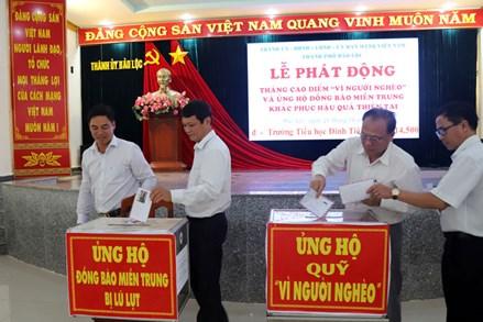 Lâm Đồng: TP Bảo Lộc  phát động ủng hộ Quỹ Vì người nghèo năm 2020