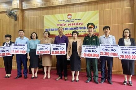MTTQ tỉnh Hòa Bình phát động, tiếp nhận ủng hộ các tỉnh miền Trung khắc phục hậu quả mưa lũ