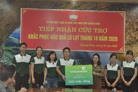 Mặt trận tỉnh Quảng Bình tiếp nhận gần 24 tỷ đồng ủng hộ đồng bào lũ lụt