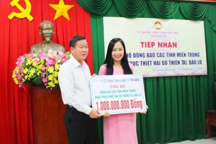 Đồng Nai: Tiếp nhận hơn 10,7 tỷ đồng ủng hộ đồng bào các tỉnh miền Trung