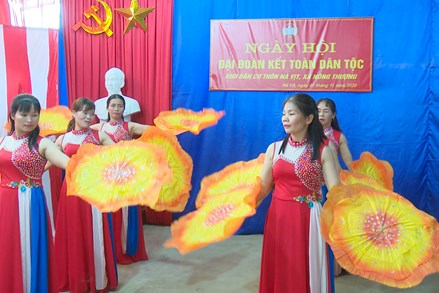 Khu dân cư Nà Vịt tổ chức Ngày hội Đại đoàn kết toàn dân tộc năm 2020