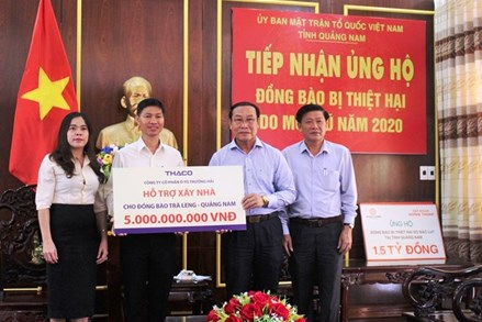 THACO ủng hộ người dân vụ sạt lở núi ở Trà Leng 5 tỷ đồng