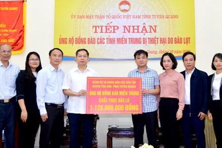 Tuyên Quang: Huyện Yên Sơn ủng hộ đồng bào miền Trung hơn 1,1 tỷ đồng