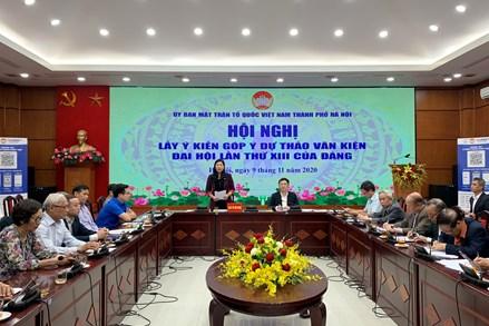 MTTQ thành phố Hà Nội góp ý dự thảo văn kiện Đại hội 13 của Đảng