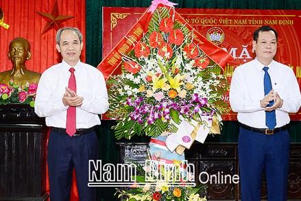 Nam Định: Gặp mặt kỷ niệm 90 năm ngày thành lập Mặt trận Dân tộc thống nhất Việt Nam