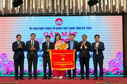 MTTQ tỉnh Hà Tĩnh nhận Cờ thi đua của Chính phủ