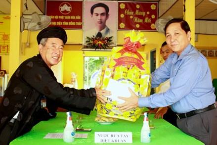 Đồng Tháp: Chúc mừng Đại lễ Đản sinh Đức Huỳnh Giáo chủ Phật giáo Hòa Hảo