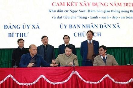 """Hà Trung (Thanh Hóa) phát động xây dựng giao thông nông thôn và khu dân cư """"Sáng - xanh - sạch - đẹp - an toàn"""""""