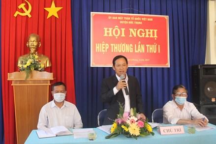 Huyện Đức Trọng (Lâm Đồng) Hiệp thương lần thứ nhất bầu cử đại biểu HĐND huyện Đức Trọng khóa XII