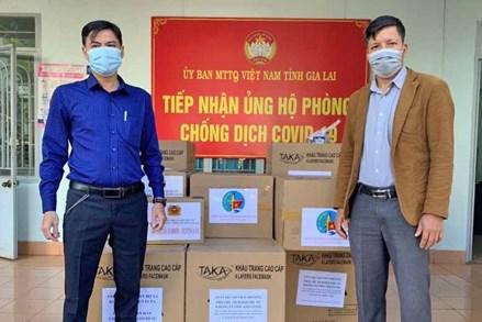 Ủy ban MTTQ Việt Nam tỉnh Gia Lai tiếp nhận thêm 40 ngàn khẩu trang y tế ủng hộ phòng-chống dịch Covid-19