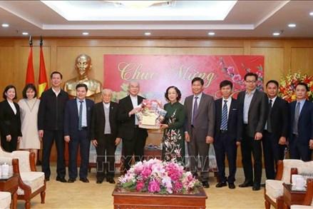 Đồng chí Trương Thị Mai tiếp đoàn đại biểu Ủy ban Đoàn kết Công giáo Việt Nam