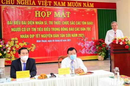 Ủy ban Mặt trận Tổ quốc Việt Nam tỉnh Ninh Thuận: Họp mặt nhân sĩ, trí thức, chức sắc các tôn giáo, dân tộc mừng xuân Tân Sửu 2021