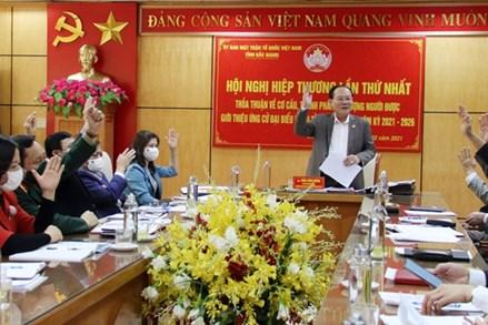 Bắc Giang: Hiệp thương bầu cử đại biểu Quốc hội khóa XV và HĐND tỉnh khóa XIX