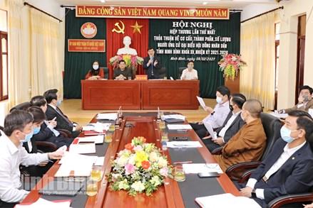 Ninh Bình:Tích cực chuẩn bị cho cuộc bầu cử đại biểu Quốc hội khóa XV và đại biểu HĐND các cấp nhiệm kỳ 2021-2026