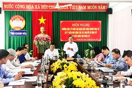 Khánh Hòa: Hướng dẫn làm hồ sơ ứng cử đại biểu Quốc hội khóa XV