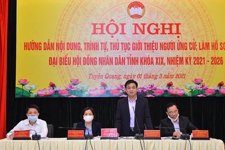 Tuyên Quang: Hướng dẫn giới thiệu người ứng cử đại biểu HĐND tỉnh