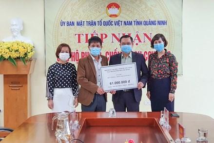 Quảng Ninh tiếp nhận ủng hộ gần 38,9 tỷ đồng chống dịch