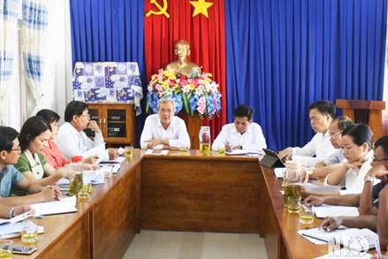 Ủy ban MTTQ Việt Nam tỉnh Ninh Thuận làm việc với Ủy ban MTTQ Việt Nam huyện Bác Ái