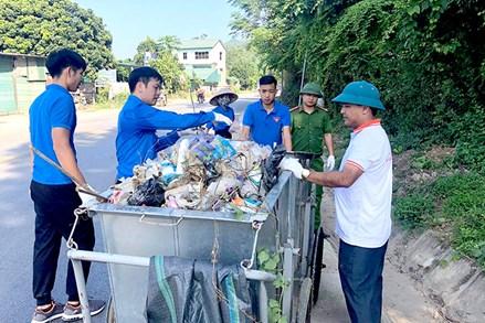 Yên Sơn chung tay giảm thiểu rác thải nhựa