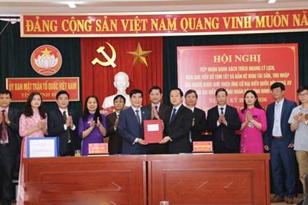 Ninh Bình:Bàn giao hồ sơ người ứng cử đại biểu Quốc hội khóa XV và đại biểu HĐND tỉnh Ninh Bình, nhiệm kỳ 2021-2026