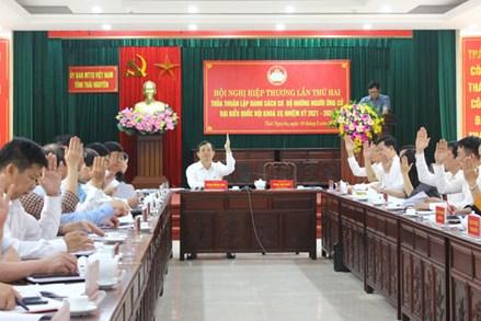 Ủy ban MTTQ tỉnh Thái Nguyên tổ chức Hội nghị hiệp thương lần thứ hai