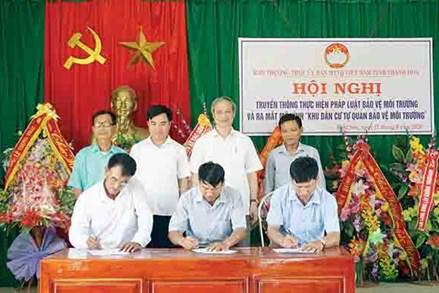 MTTQ các cấp tỉnh Thanh Hóa với công tác bảo vệ môi trường