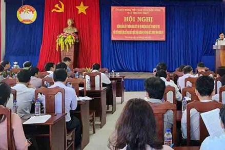 Đắk Nông: Hội nghị hướng dẫn lấy ý kiến nhận xét và tín nhiệm của cử tri nơi cư trú đối với người ứng cử
